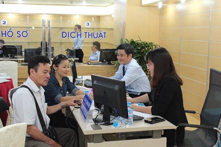 Tư vấn thủ tục xin visa cho khách hàng của dịch thuật 123