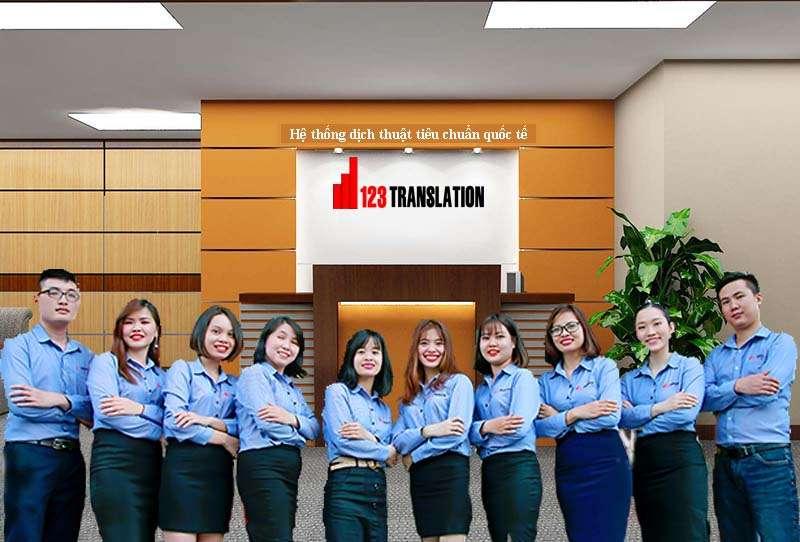 Đội ngũ dịch thuật 123 Việt Nam tại Hà Nội