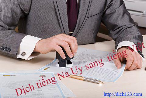 Dịch tiếng Na Uy sang Tiếng việt